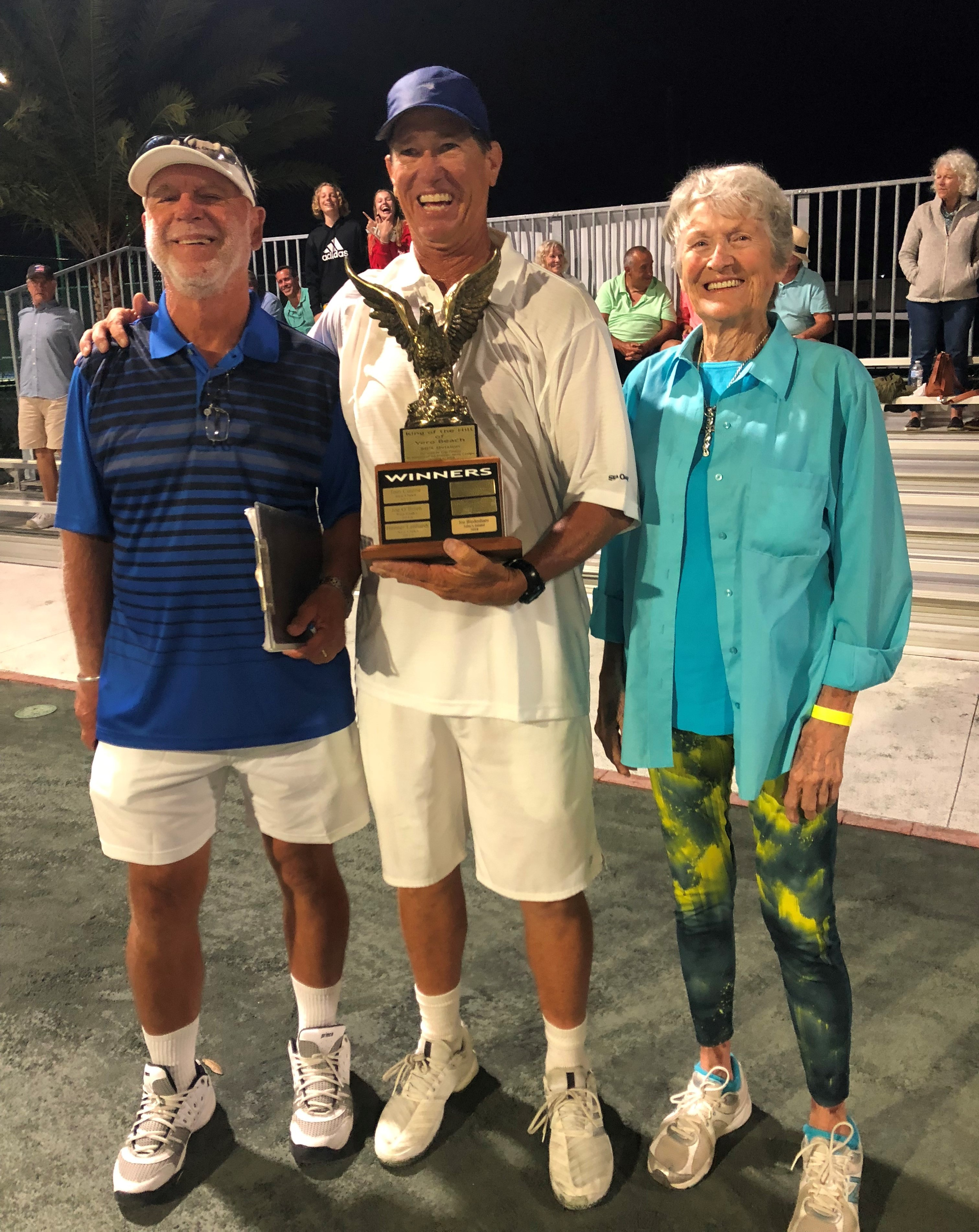 Henner Lenhardt Winner of the 50's Division  Youth Guidance Mentoring Academy  King of the Hill Tennis Tournament